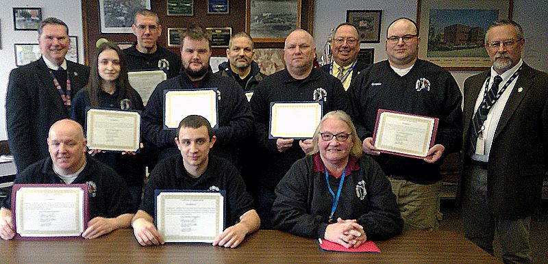 Wayne County Commissioner honor group of 911 Dispatchers for their work.