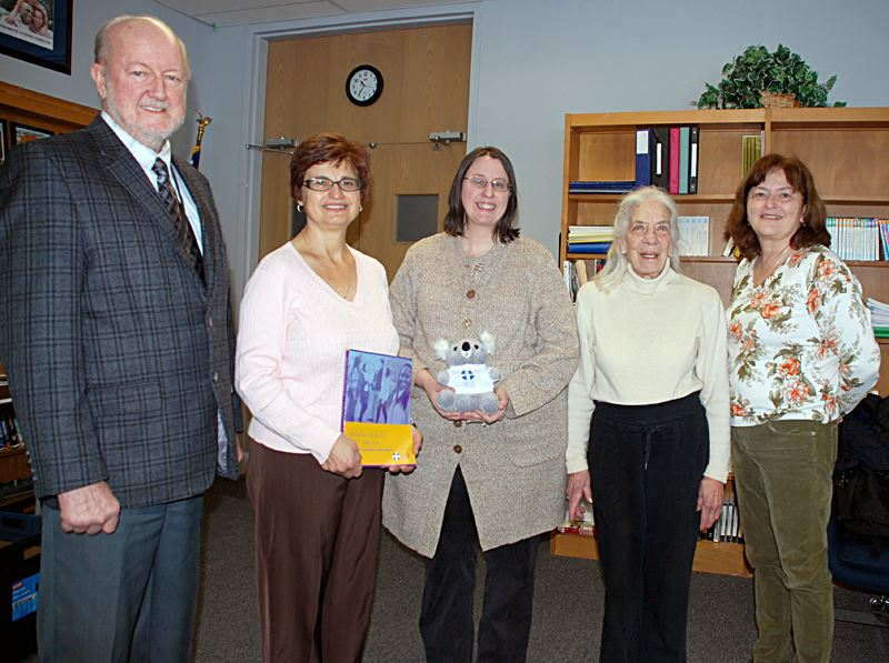 Foundation members present funds for Youth Mental Health Program.
