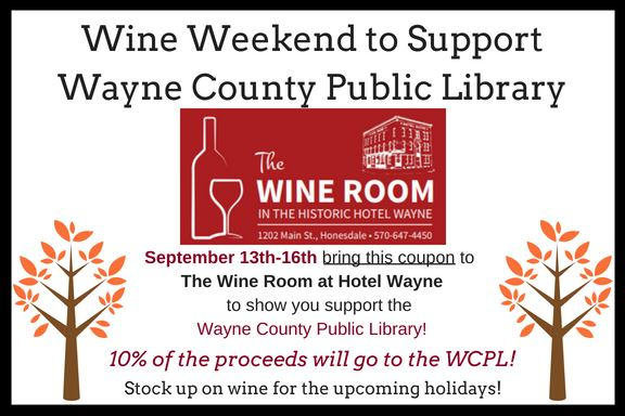 Print and present this coupon to participate in the Fall Wine Weekend