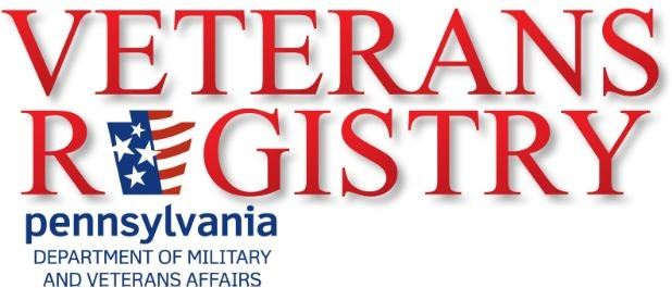 PA Dept. of Military and Veterans Affairs Veterans Registry logo and link