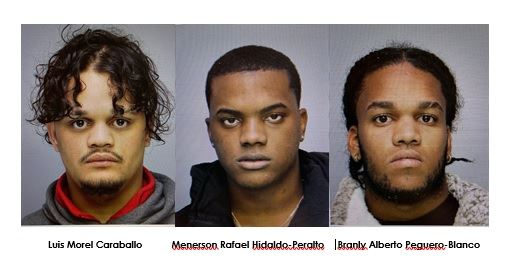 Head shot images of the three suspects in a nighttime burglary in Lake Ariel.