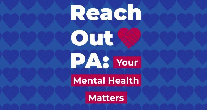 A logo image for the Reach Out PA mental health online feedback form.