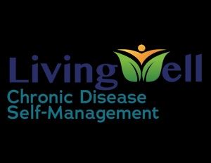 An image of a person coming out of plant to form the W in the Living Well, a Chronic Disease Self-Ma