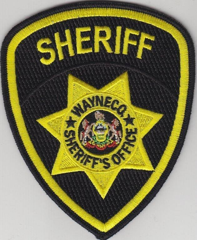 An image of the official shield of the Wayne County, PA, Sheriff's Office.