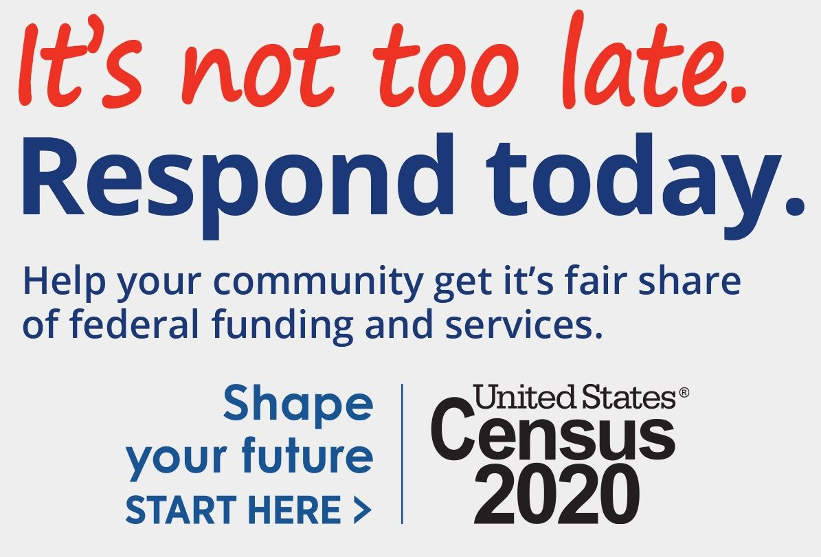 An image urging residents to respond to the 2020 Census by Sept. 30. It&#39s not too late.