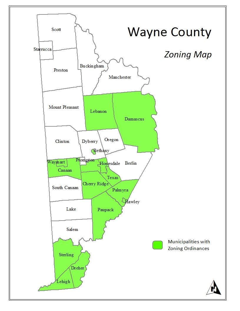 Wayne County Zoning Map