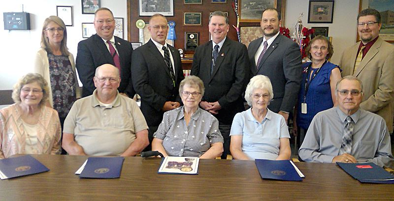 Five seated residents receive citations for joining Pennsylvania Voter Hall of Fame.